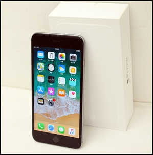 ソフト iPhone6 Plus 64GBグレイ〇B (1).JPG